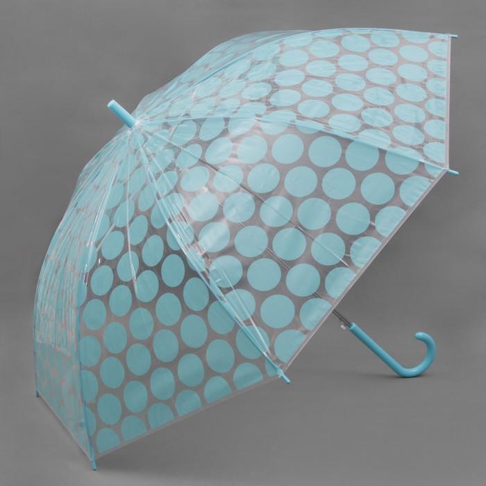 Зонт полуавтоматический «Круги», 8 спиц, R = 57 см, цвет голубой