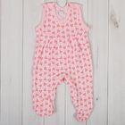 Полукомбинезон детский, рост 56 см, цвет розовый 0303ИПр56_М