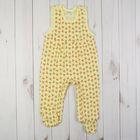 Полукомбинезон детский, рост 68 см, цвет жёлтый 0303ИПж68_М