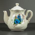 """Чайник заварочный """"Ажур"""", 0,9 л, голубые цветы"""