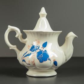 Чайник заварочный 'Гарбуз', 0,6 л, голубые цветы Ош