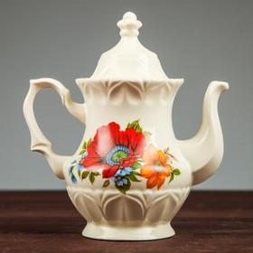 Чайник заварочный 'Монарх', 0,5 л, цветы, микс Ош
