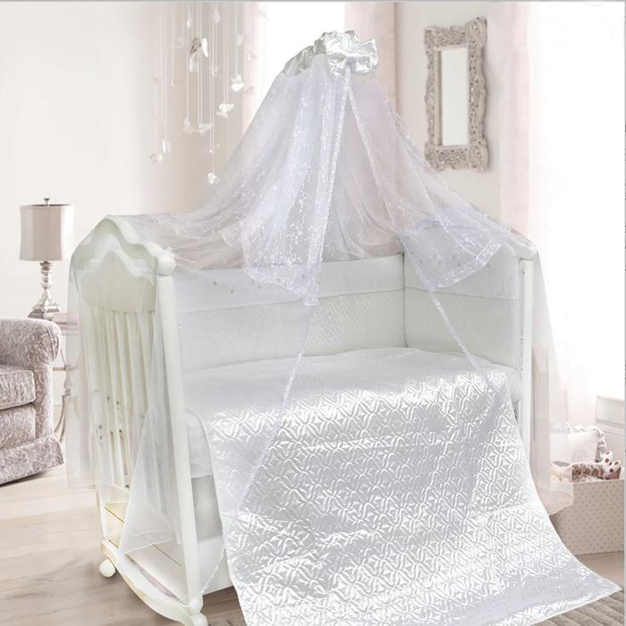 """Комплект в кроватку """"Мила"""" (6 предметов), цвет белый 1421/6"""