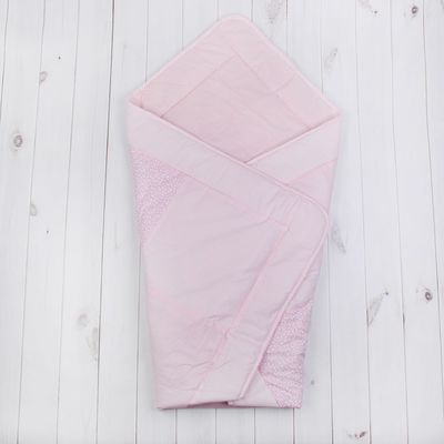 Конверт-одеяло лоскутное, размер 110*110 см, цвет розовый 3606