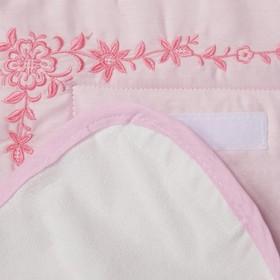 Комплект 'Три медвежонка' (пеленальный матрасик 70*66 см, непромокаемая пелёнка (2 шт.)), цвет розов Ош