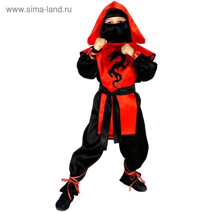 "Carnival costume ""Ninja: the Black dragon"", R-R 30, height 116 cm, color red"