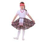 """Русский народный костюм """"Настенька"""", блузка, юбка с фартуком, повязка, р-р 28, рост 98-104 см"""