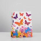 """Пакет крафт """"Бабочки"""", 25 х 11 х 32 см"""