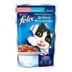 """Влажный корм FELIX """"Двойной вкус"""" для кошек, лосось/форель, пауч 85 г"""