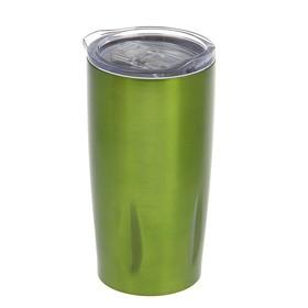 Термокружка без ручки Apple, 450 мл, 6 ч, зелёная, внутри металл