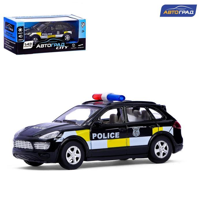 Машина металлическая «Полицейский джип», инерционная, свет и звук, масштаб 1:43 - фото 105654583