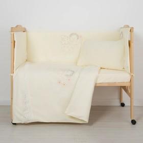 """Комплект в кроватку """"Ангелочек"""" (6 предметов), цвет бежевый 7099"""