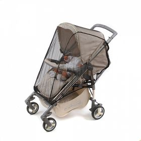 Москитная сетка на коляску универсальная, на молниях, цвет чёрный, 40х60 см