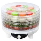 Сушилка для овощей и фруктов Polaris PFD 0205AD, 300 Вт, 5 поддонов, 12 баночек, белый