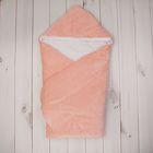 Конверт-одеяло с вышивкой, размер 90*90 см, цвет персиковый 2157 Персик