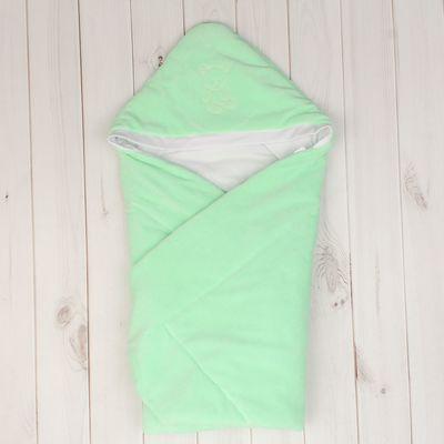 Конверт-одеяло с вышивкой, размер 90*90 см, цвет салатовый 2157 Салат