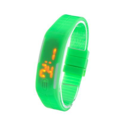 Часы наручные, электронные, литые, застежка на магните, зелёные, l=25 см