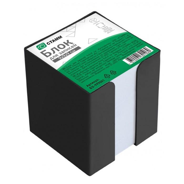 Блок бумаги для записей, в пластиковом боксе, 9 x 9 x 9 см, белый, 65 г/м2, прозрачный бокс - фото 366922216