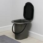 Ведро-туалет, 17 л, серый