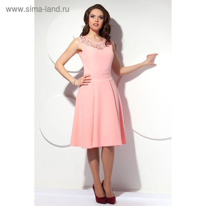 Платье женское, размер 50, цвет персиковый П-419