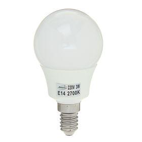 """Лампа светодиодная AL радиатор """"Luazon"""" LED, Е14-3W-2700К-SMD2835-240Lm-270deg-180-265V"""