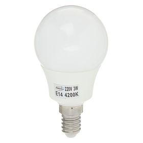 """Лампа светодиодная AL радиатор """"Luazon"""" LED, Е14-3W-4200К-SMD2835-240Lm-270deg-180-265V"""