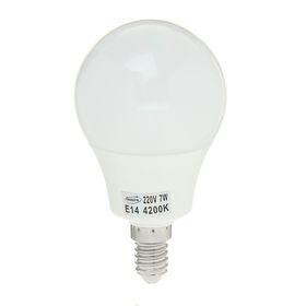 """Лампа светодиодная AL радиатор """"Luazon"""" LED, Е14-7W-4200К-SMD2835-560Lm-270deg-180-265V"""