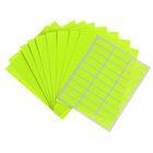 Набор 10 листов ценники самоклеящиеся 33*11мм 30шт на 1 листе флуоресцентные МИКС