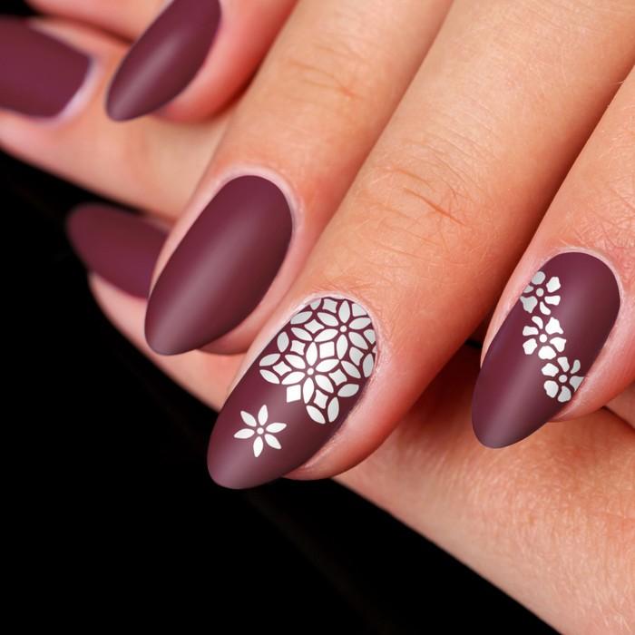 """Трафарет для ногтей """"Цветы"""", 16шт"""