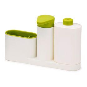 {{photo.Alt || photo.Description || 'Органайзер для раковины Sink Base Plus с дозатором для мыла и бутылочкой, цвет бело-зелёный'}}