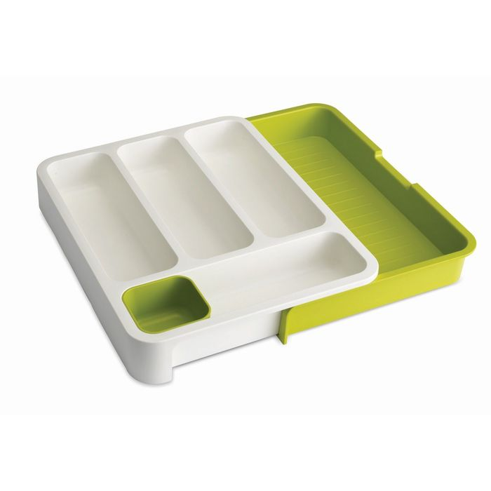 Органайзер для столовых приборов Joseph Joseph DrawerStore, раздвижной, бело-зелёный