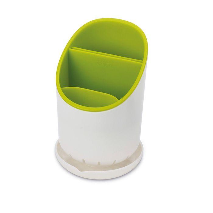 Сушилка для столовых прибором Joseph Joseph Dock зелёная, со сливом