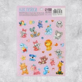 Бумажные наклейки «Любимые игрушки», 11 х 16 см Ош