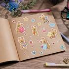 """Paper stickers """"Mishutka"""", 11 x 16 cm"""