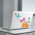 """Наклейки для ноутбуков """"Котики, бабочки"""",22 х 42 см."""