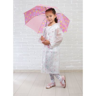 """Зонт детский """"Слоники"""", полуавтоматический, r=41,5см, цвет розовый"""