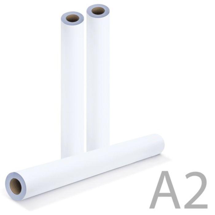 Рулон для плоттера 420мм*175м*втулка 76мм, 80г/м2, белизна CIE 146%, диаметр 170мм