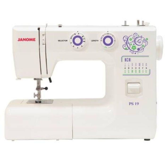Швейная машина Janome PS-19 ,17 операций, обметочная, потайная, эластичная строчка