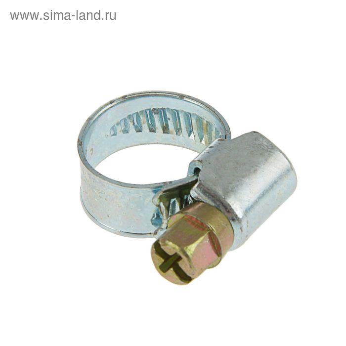 Хомут оцинкованный TUNDRA krep, несквозная просечка, диаметр 10-16 мм, ширина 9 мм