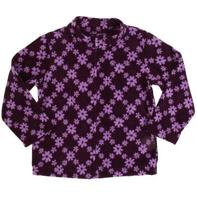 """Кофта  для девочки """"Крошка Я"""" Фиолетовые цветы, рост 98-104 см, флис"""