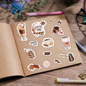 Paper stickers Coffee time, 11 x 16 cm