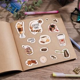 Бумажные наклейки Coffee time, 11 х 16 см Ош