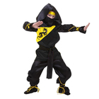 """Карнавальный костюм """"Ниндзя"""", р-р 34, рост 134 см, цвет чёрно-жёлтый"""
