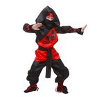 """Карнавальный костюм """"Ниндзя"""", р-р 34, рост 134 см, цвет чёрно-красный"""