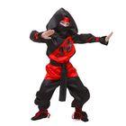 """Карнавальный костюм """"Ниндзя"""", р-р 36, рост 140 см, цвет чёрно-красный"""