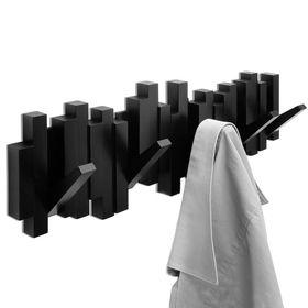 Вешалка настенная Sticks, чёрная