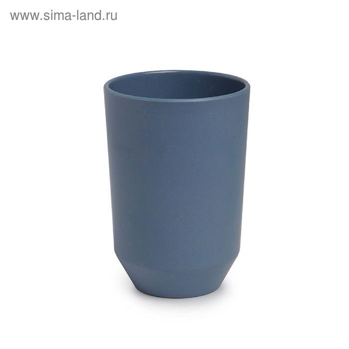 Стакан для ванной FIBOO, дымчато-синий