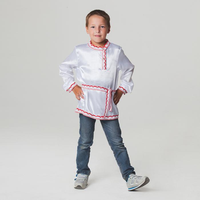 Русская народная рубаха для мальчика, р-р 64, рост 122-128 см