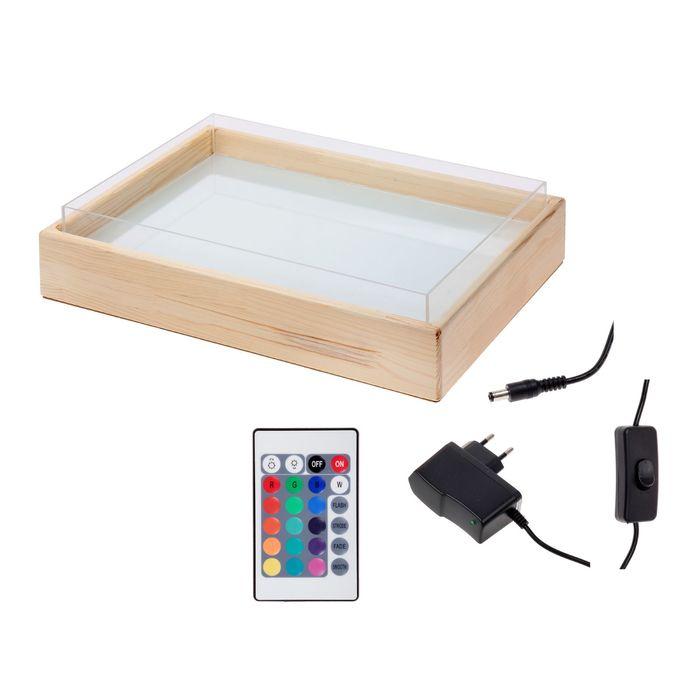 Стол-планшет для аква-анимации 35х50 см (подсветка 16 цв., пульт)