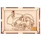 """Набор 5 в 1 """"Машинка и светофор"""", фоторамка 10*15 картина, магнит, трафарет, подвеска 72001"""